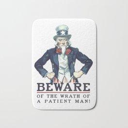 Beware Of The Wrath Of A Patient Man Uncle Sam Bath Mat