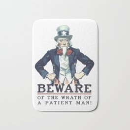 Beware Of The Wrath Of A Patient Man Uncle Sam Bath Mat