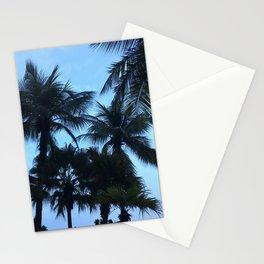 Palm trees at Sunway Lagoon Resort, Malaysia Stationery Cards
