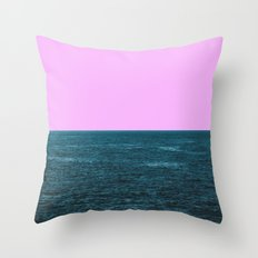 broken sea Throw Pillow