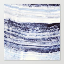 MARBLE ABSTRACT ECLIPSE BLUE Canvas Print