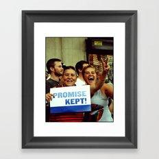 Promise Kept Framed Art Print