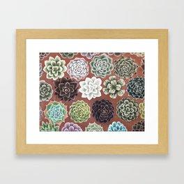 Succulent Life Framed Art Print