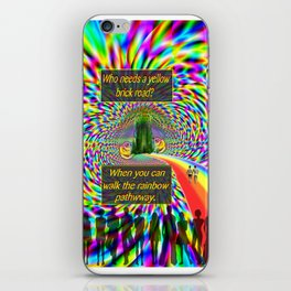 """""""The Rainbow Pathway"""" by surrealpete iPhone Skin"""