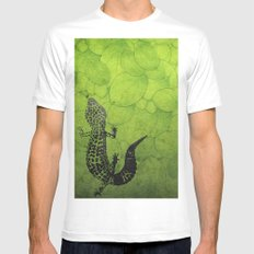 Leopard Gecko White Mens Fitted Tee MEDIUM
