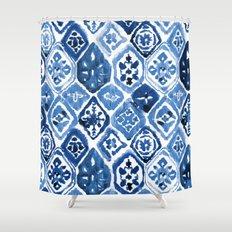 Arabesque tile art Shower Curtain