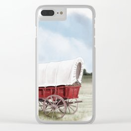 Prairie Schooner Clear iPhone Case