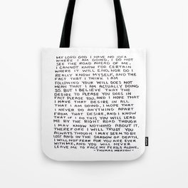 Direction Prayer  Tote Bag
