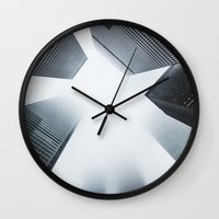 cityscape Wall Clocks featuring Cityscape by Find a Gift Now