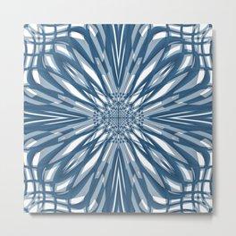Blue Briar Flower Tile Metal Print