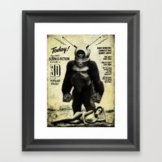 Robot Monster Framed Art Print