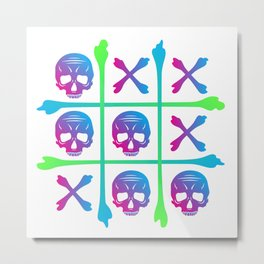 Skull & Cross Bones Metal Print