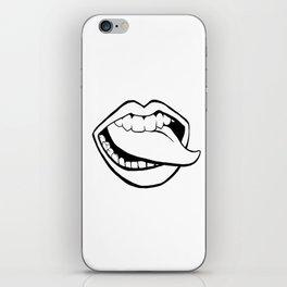 Lips #2 (Tongue Wag) iPhone Skin