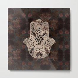 Blush Hamsa Metal Print