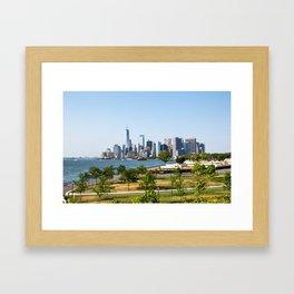 Lower Manhattan Skyline view from Governors Island 2018 Framed Art Print