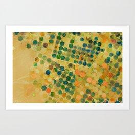 Circle Crops of Wadi, Saudi Arabia Aerial view Art Print