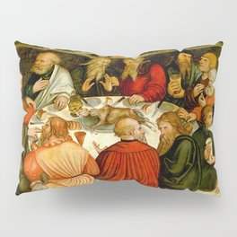 "Lucas Cranach the Elder ""The Last Supper (with Luther among the Apostles)"" Pillow Sham"