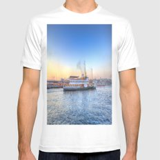 Pleasure Cruise Boat Istanbul Mens Fitted Tee MEDIUM White