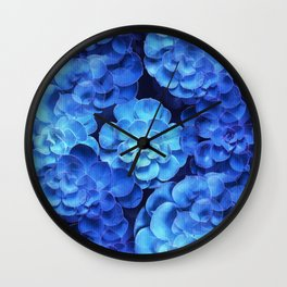 Succulent Plants In Blue Tones #decor #society6 #homedecor Wall Clock