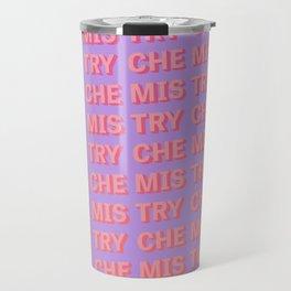 Chemistry - Typography Travel Mug