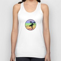 surfing Tank Tops featuring surfing by Paul Simms