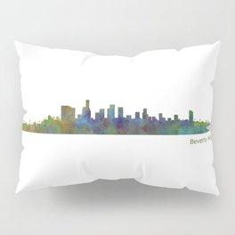 Beverly Hills City in LA City Skyline HQ v1 Pillow Sham