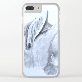 Animals and Art - Dolphin Clear iPhone Case