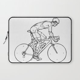 Transitions through Triathlon Cyclists Drawing B Laptop Sleeve