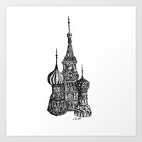 moscow Art Prints featuring Moscow by Coop Klassen