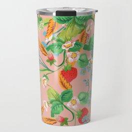 Strawberry Patch Travel Mug