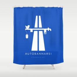 Autobannarsi Shower Curtain