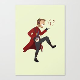 Dancing Quill Canvas Print