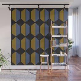 Hexagonal Pattern - Sundown Wall Mural