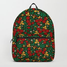 Strawberry pattern in traditional russian style hohloma khohloma Backpack
