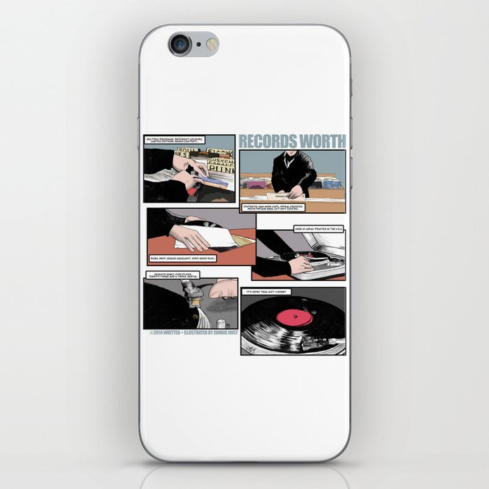 Records Worth iPhone Skin