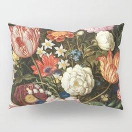 Vintage Floral Art Pillow Sham