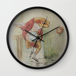 Jeremy Fisher by Beatrix Potter Wall Clock