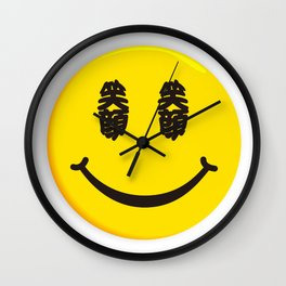 Smiling face Wall Clock