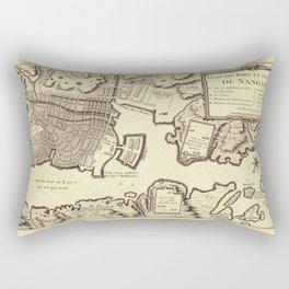 Map Of Nagasaki 1752 Rectangular Pillow