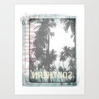 tropical Art Prints featuring tropical by ulas okuyucu
