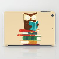 reading iPad Cases featuring Owl Reading Rainbow by Picomodi