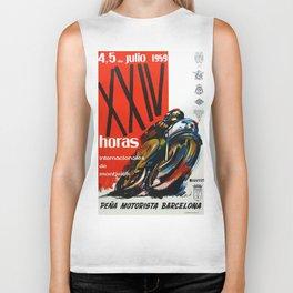 Vintage Pena Motorista Barcelona Poster Biker Tank