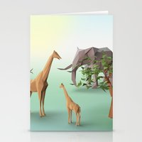 africa Stationery Cards featuring Africa by CharismArt