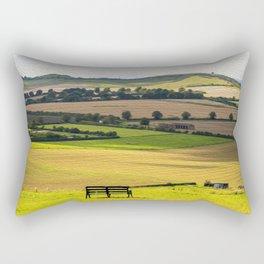 Green and Pleasant Land Rectangular Pillow