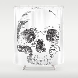 1 Corinthians 1 Skull Shower Curtain