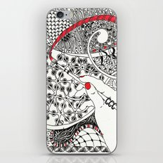 Red Line iPhone Skin