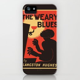 Retro The Weary Blues (music) iPhone Case