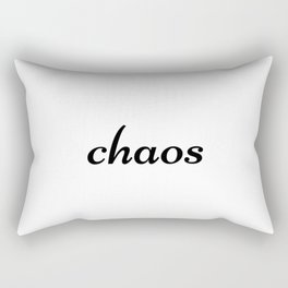 Chaos, disorder Rectangular Pillow