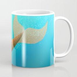 Underwater Swimming Mermaid Fins Orange Coffee Mug