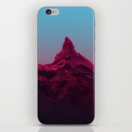 Pink mountains iPhone Skin